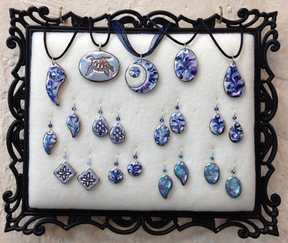 indigo_turtle_art_porcelain_jewelry_blue_marbled_sea_turtle_moon_pendant_earrings.jpg