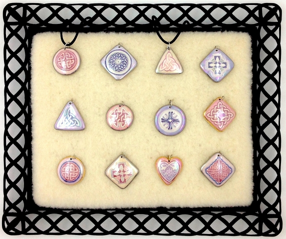 indigo_turtle_art_porcelain_jewelry_pink_purple_celtic_knot_heart_trinity_pendants.jpg