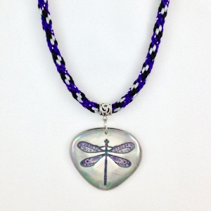 Kumihimo Braid with Porcelain Statement Pendant #KBN46