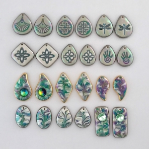 Indigo Turtle Art green color palette earring components #EC2