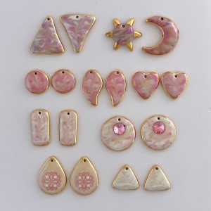 Indigo Turtle Art pink color palette earring components