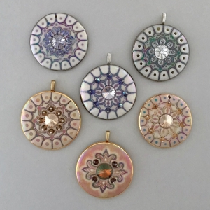 Mandala Statement Pendants with Swarovski Rivoli Crystals #SPP2