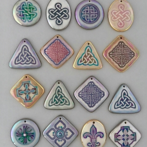 Indigo Turtle Art assorted image pendants #IPC1