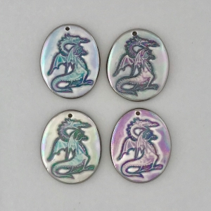 Indigo Turtle Art regular size dragon image pendants #IPC5