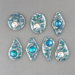 New Soft Aqua Cabochons #CBC9