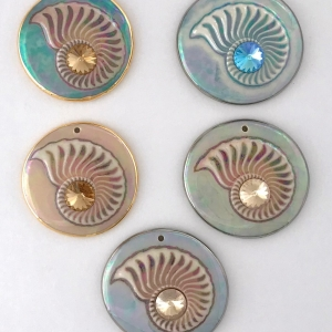 Nautilus Statement Pendants with Rivoli Crystals #SPP9