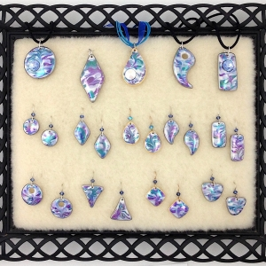 Shades of Blue ~ Pendants & Earrings #CPE9