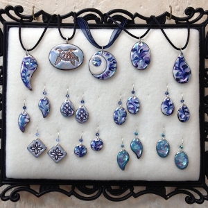Shades of Blue ~ Pendants & Earrings #CPE8
