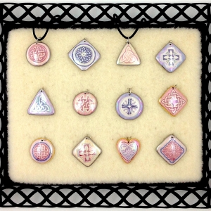Pink & Purple ~ Image Pendants #IPC8