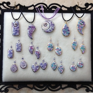 Shades of Purple ~ Pendants & Earrings #CPE4