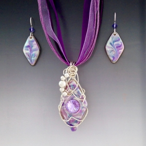 Lavender Diamond Crystal Accented Set